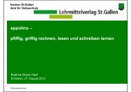 appolino – pfiffig, griffig rechnen, lesen und schreiben lernen - Sfib