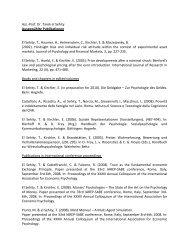 Ass.-Prof. Dr. Tarek el Sehity Ausgewählte Publikationen El Sehity, T ...