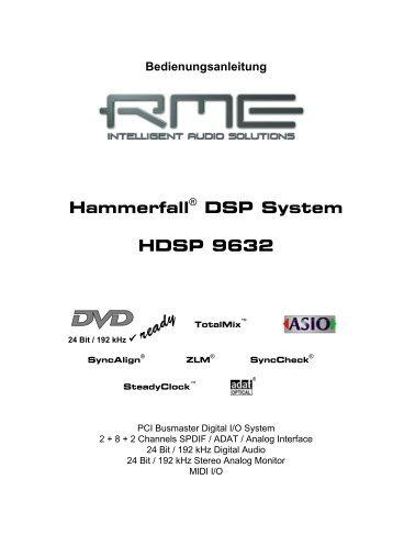 Hammerfall® DSP System HDSP 9632 - MusiX CH