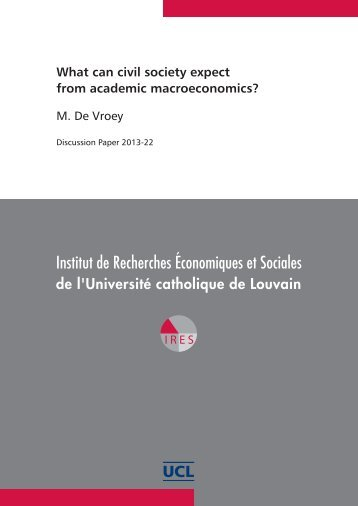 What can civil society expect from academic macroeconomics?