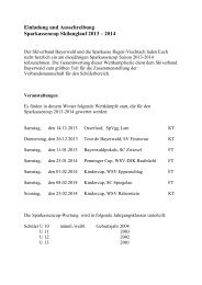 Einladung und Ausschreibung - Skiverband Bayerwald