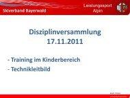 Training im Kinderbereich - Skiverband Bayerwald