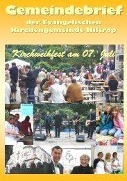 Gemeindebrief - Hiltrop - Kirchenkreis Bochum
