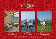Das ganze Sommerprospekt zum Download - Hotel Alte Krone