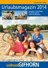 Urlaubsmagazin 2014 - Südheide Gifhorn