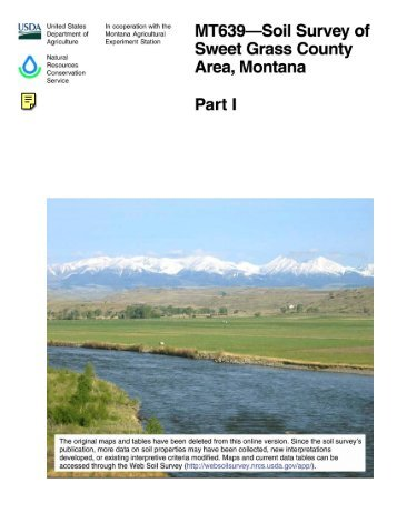 Soil Survey of Sweet Grass County Area, Montana - Soil Data Mart