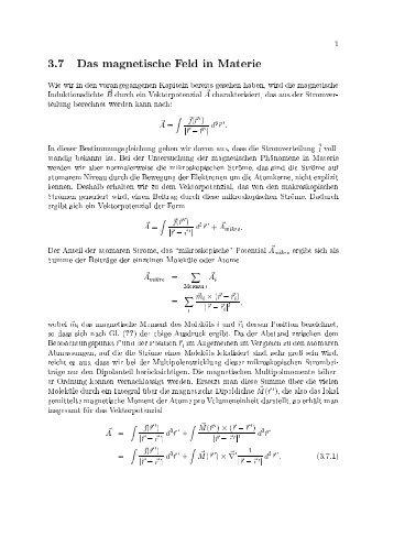 1 3.¤ Das magnetische Feld in Materie Wie wir in den ...