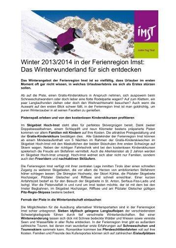 Das Winterwunderland für sich entdecken - Tiscover