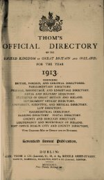 OFFICIAL DIRECTORY 1913 - Source