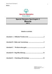Regelwerk Boccia - Special Olympics Deutschland