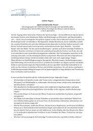 """Call for Papers """"Sport als kulturelle Praxis"""" Jahrestagung der dvs ..."""