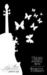 Music Performances - Chicago College of Performing Arts ...