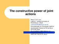 The constructive power of joint actions