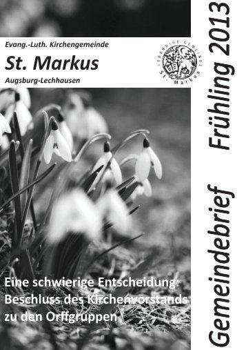 Frühling 2013 - St. Markus Augsburg