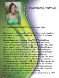to view a profile of Natasha's collection - UWI St. Augustine
