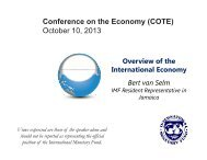 Overview of the International Economy - UWI St. Augustine