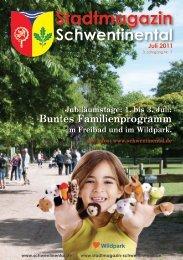 Buntes Familienprogramm - beim Stadtmagazin Schwentinental!
