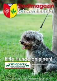 Bitte Hunde anleinen! - Stadtmagazin Schwentinental