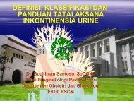 Petunjuk Tata Laksana Inkontinensia Urine