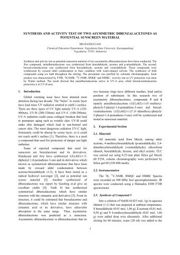 synthesis and activity test of two asymmetric ... - Staff UNY