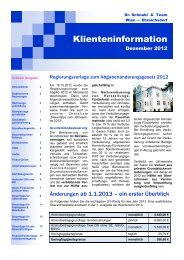 Klienten-Info Dezember 2012 - Dr. Schnabl & Team