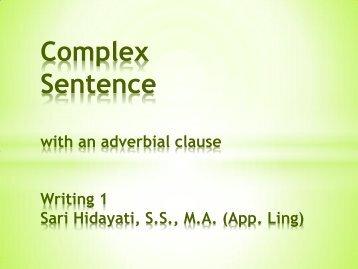 Complex Sentence - Staff UNY