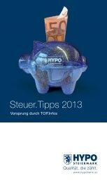 Steuer.Tipps 2013 - HYPO Steiermark