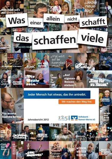 schaffen - Volksbank Kamen-Werne eG