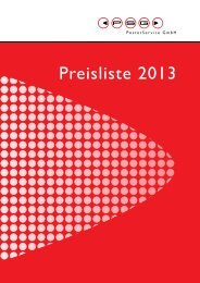 Preisliste 2013 - Stadtwerke Klagenfurt