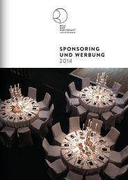 Sponsoring - Ball der Wirtschaft Land Brandenburg