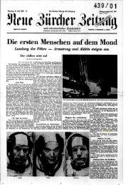 21. Juli 1969 - Neue Zürcher Zeitung