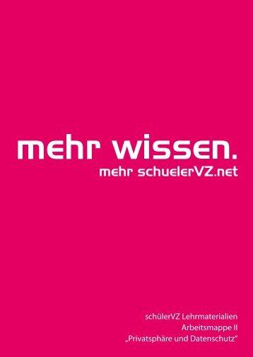 schülerVZ Lehrmaterialien Arbeitsmappe II ... - SchuelerVZ