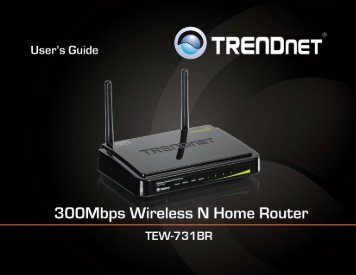 Trendnet TEW-731BR Home Router Manual - static.highspeedb...
