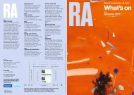 What's on Autumn 2013 - The Royal Academy of Arts