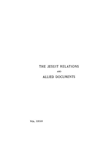 the jesuit relations allied documents - Toronto Public Library