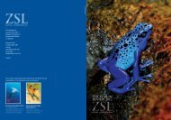 ZSL - The Year in Review 2012 - Zoological Society of London