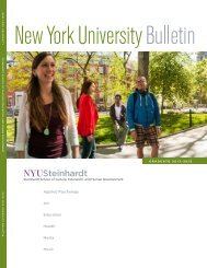 applied psychology art education health media ... - NYU Steinhardt
