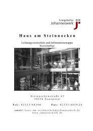 Leistungsverzeichnis Kurzzeitpflege - Johanneswerk