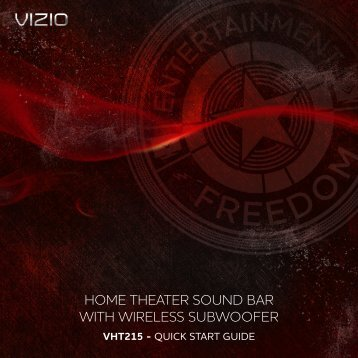 home theater sound bar with wireless subwoofer - Vizio