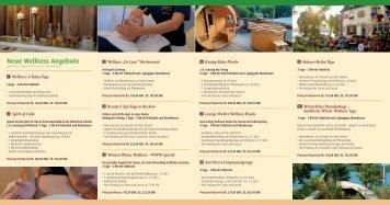Neue Wellness Angebote - Strandhotel Buckow