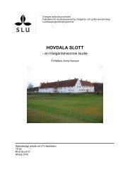 HOVDALA SLOTT - SLU