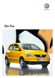 Katalog VW Fox, 2 8 MB - Autohaus Elmshorn