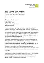 DIE KULISSE EXPLODIERT - Presse