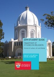 2014 STUDENT GUIDE - The University of Sydney