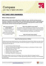 FACT SHEET: BODY AWARENESS - The University of Sydney