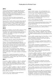 Publications for Richard Vann 2013 2012 2011 2010 2009 2008