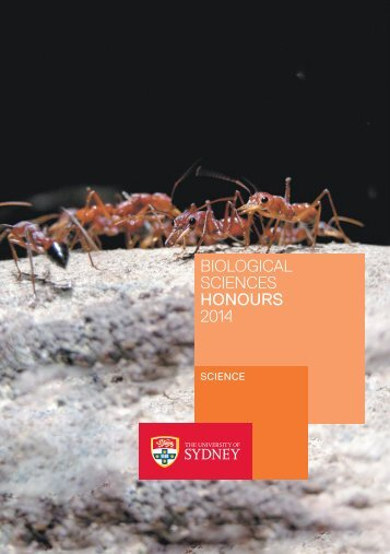 biological sciences HONOURs 2014 - The University of Sydney