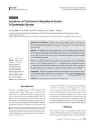 Incidence of Thymoma in Myasthenia Gravis: A Systematic Review