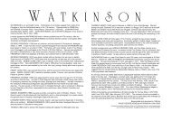 Watkinson Family Tree - Clive and Di Stirling