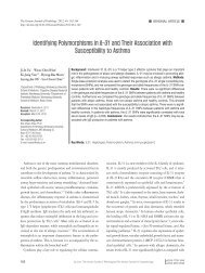 Identifying Polymorphisms in IL-31 and Their Association with ...